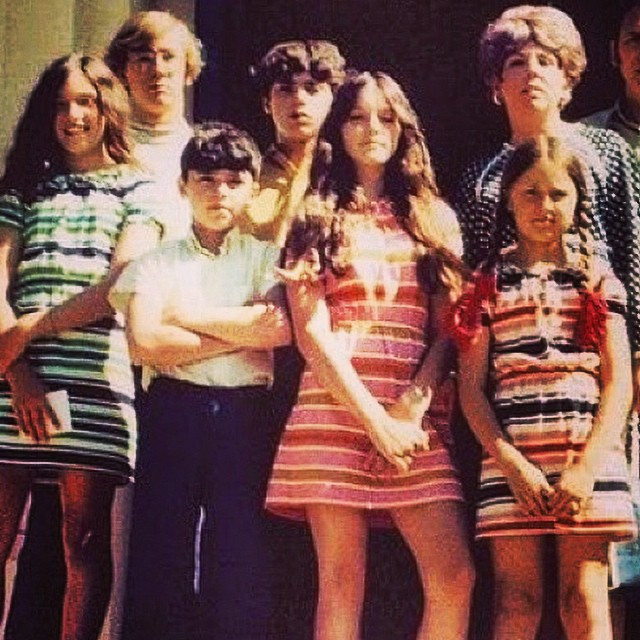 I guess stripey knit dresses were all the rage! I don't look too happy about mine!  #unapologeticteenager