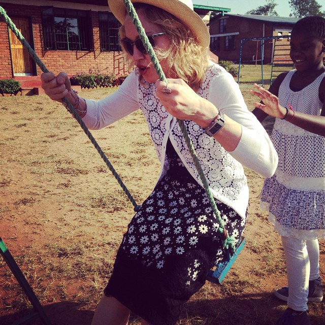 Getting pushed around by Mercy James at Kondanani Orphanage!  #livingforlove