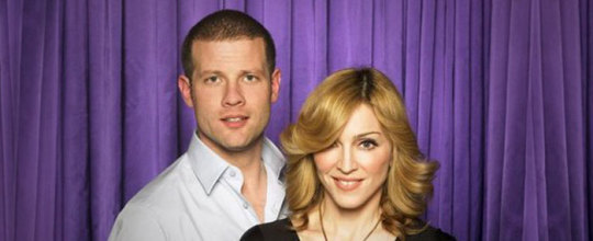 Dermot O' Leary with Madonna