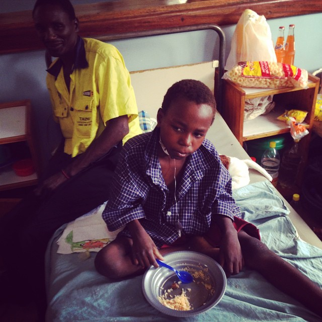 We Give Thanks at Queen Elizabeth Hospital after a successful operation! @raisingmalawi