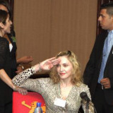Madonna at the Malawi State House