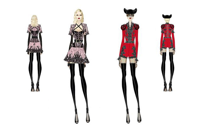 Givenchy Grammy Sketches
