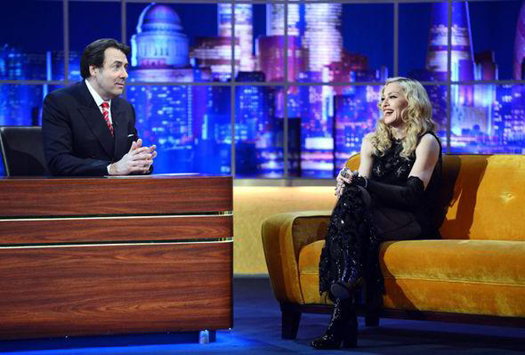 Madonna at the Jonathan Ross Show