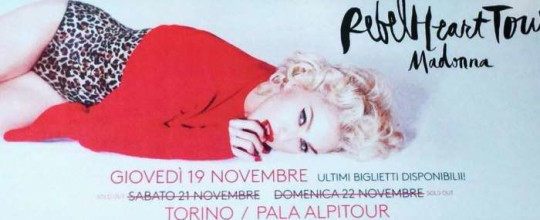 Rebel Heart Tour in Turin