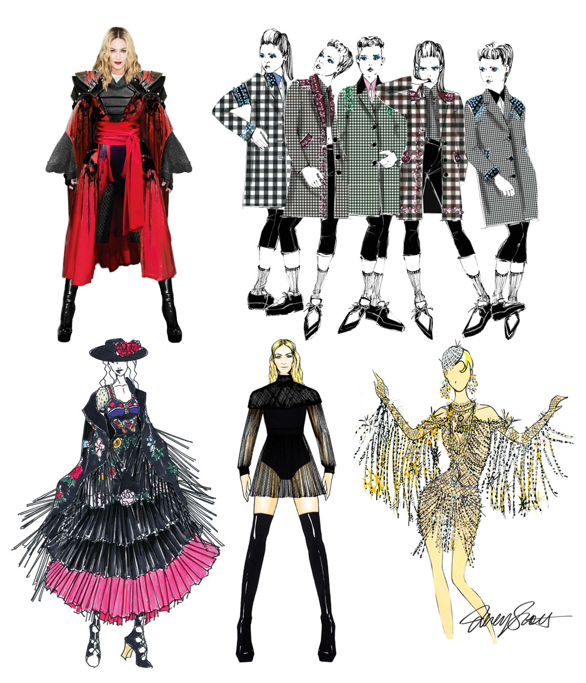 Madonna's 'Rebel Heart' Tour Designer Costume Sketches