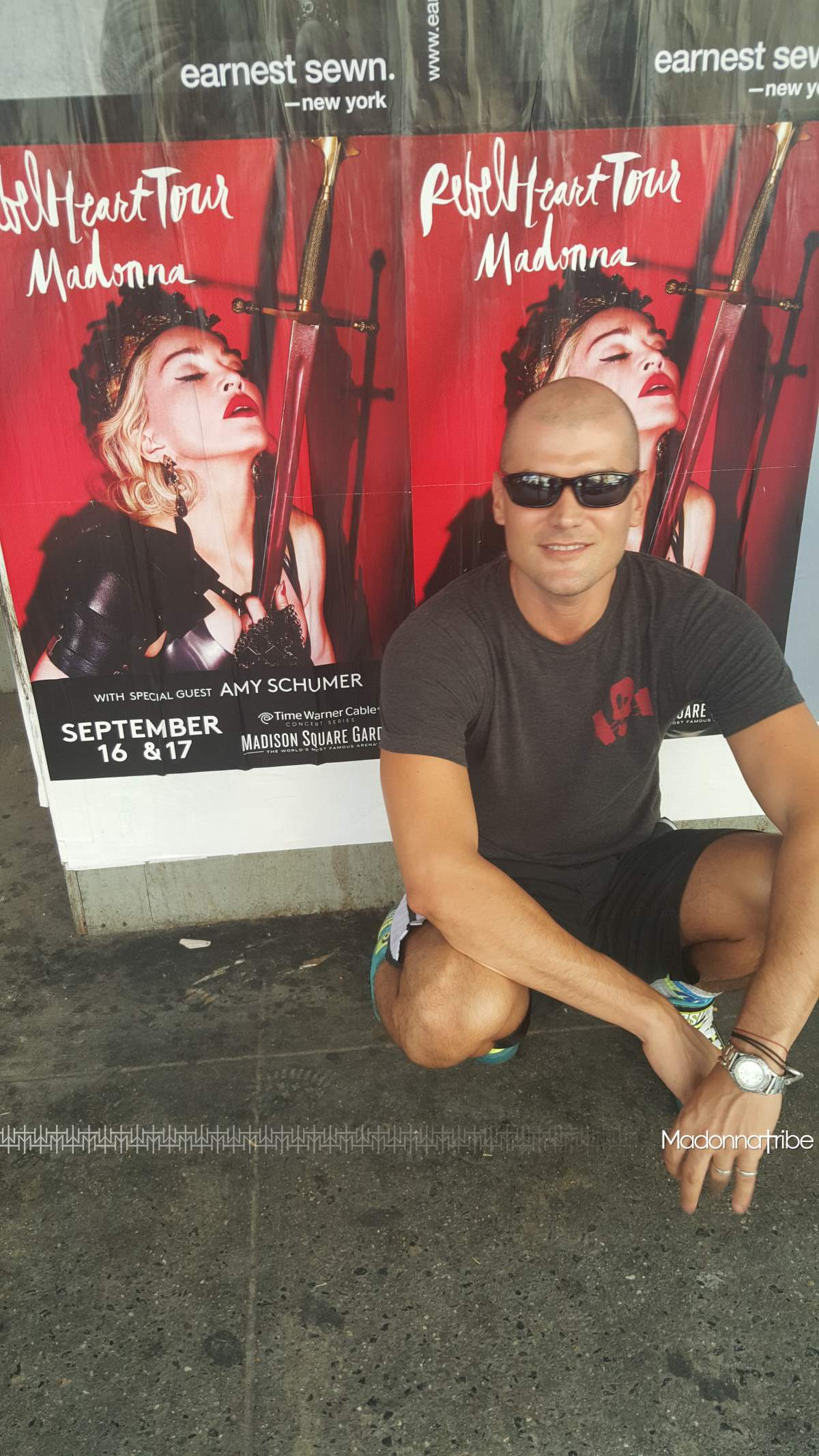 Rebel Heart Tour posters in Chelsea