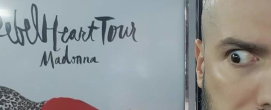 Rebel Heart Tour poster in NYC
