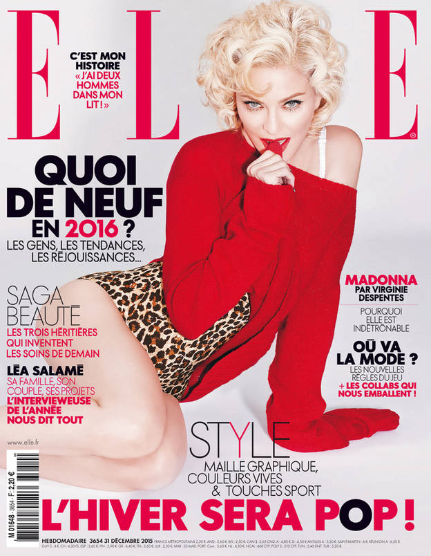 "Bien-aimé An unbeatable icon"" on the cover of ELLE - MadonnaTribe AI65"