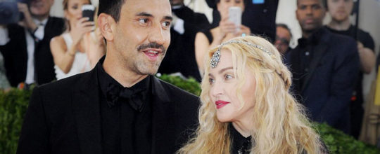 Madonna with Riccardo Tisci at the MET Gala