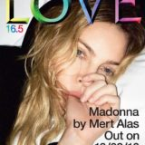 Madonna by Mert Alas on the cover of Love 16.5