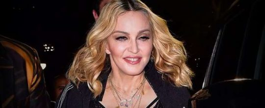 Madonna at the Alexander Wang fashion show