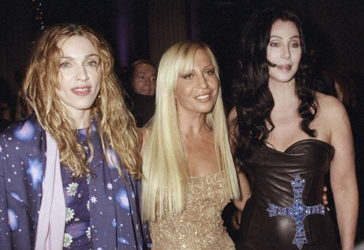 Madonna, Donatella Versace and Cher