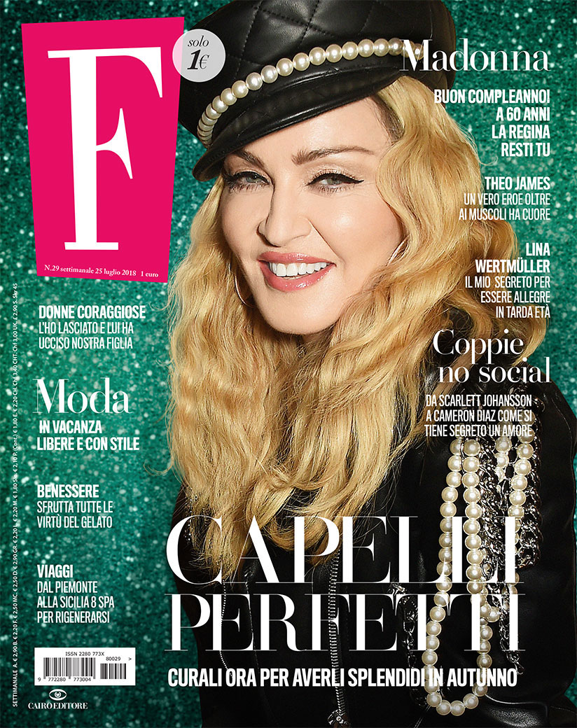 On the cover of F