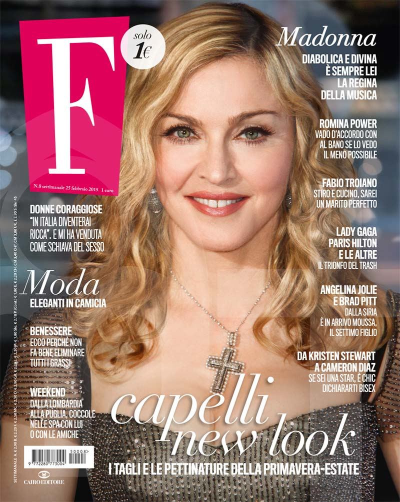 Madonna on the cover of