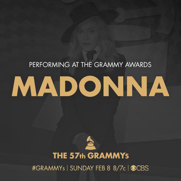 Madonna performing at the Grammy Awards