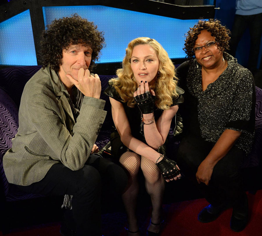 Madonna and Howard Stern
