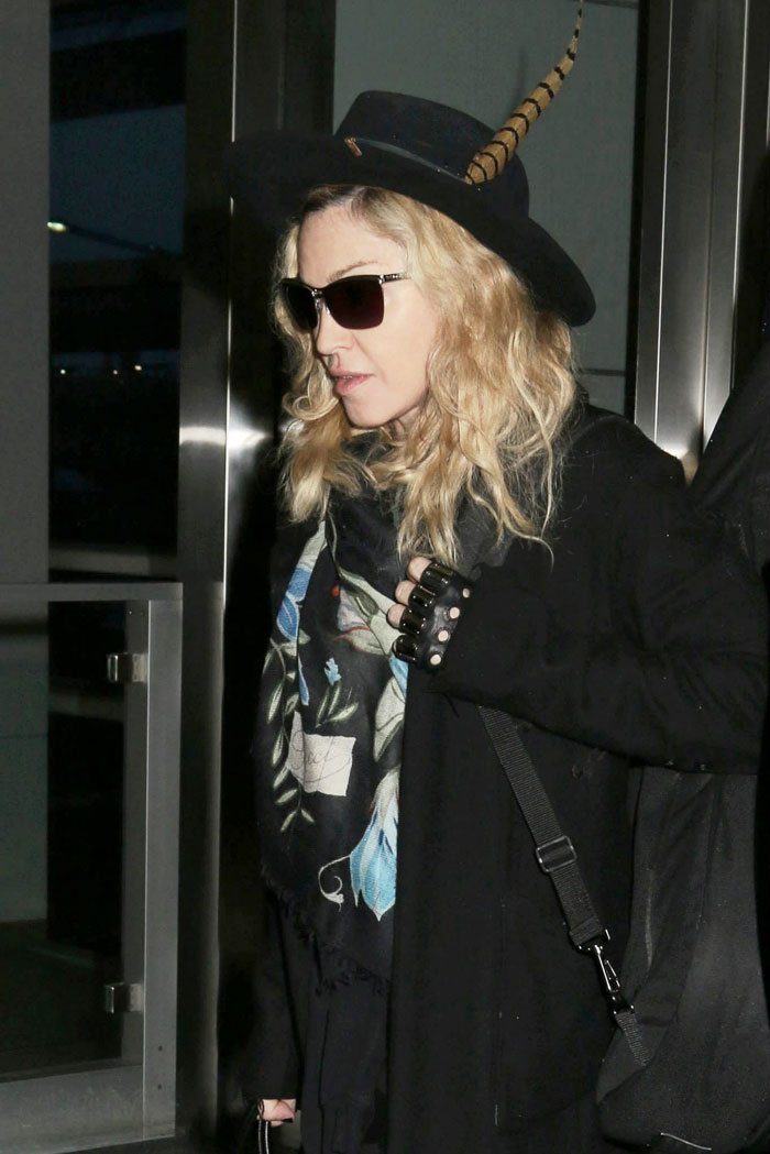 Madonna at JFK airport