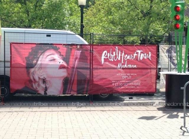 Rebel Heart Tour ad in Montreal