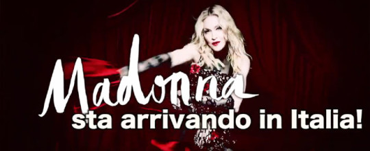 Madonna in Italia!