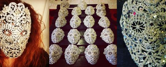 Marianna Harutunian's Living For Love masks