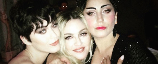 Katy Perry Madonna Lady Gaga at the MET Ball