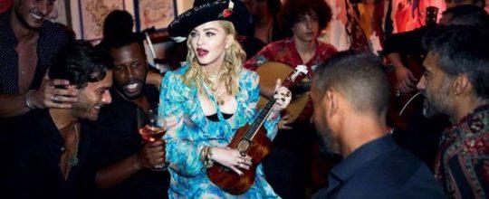 Madonna at Tejo bar