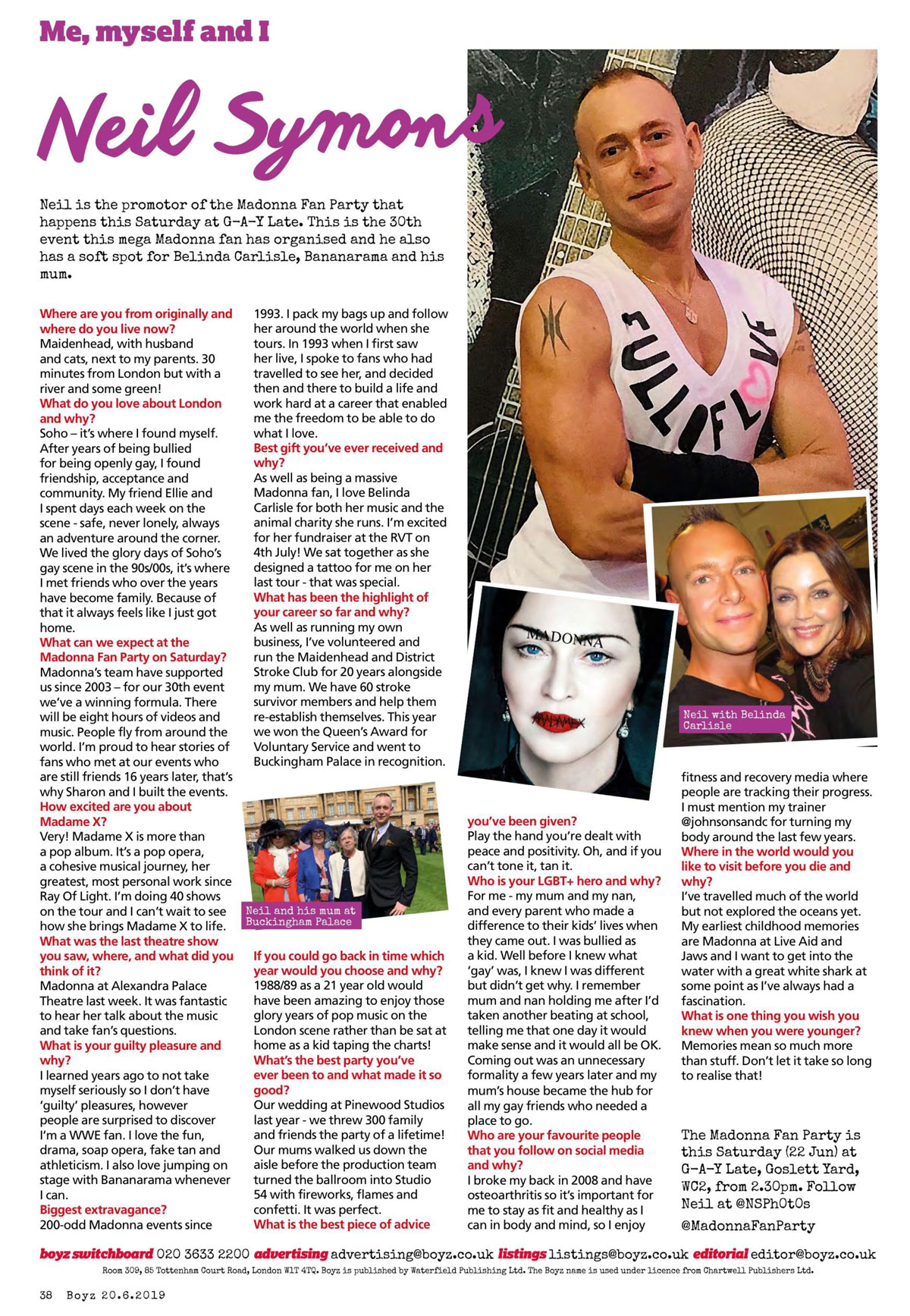 Boyz magazine london gay