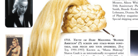 Madonna's ponytail