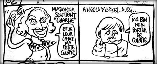 """Madonna Soutient """"Charlie"""""""